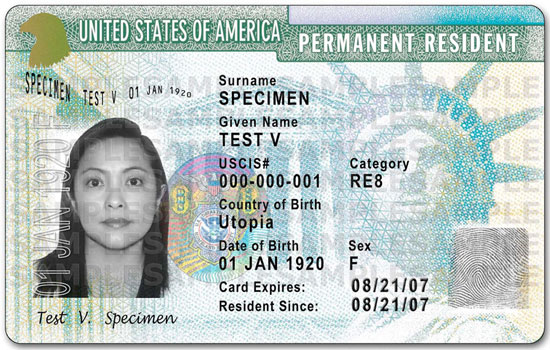 Green card Through Marriage sample